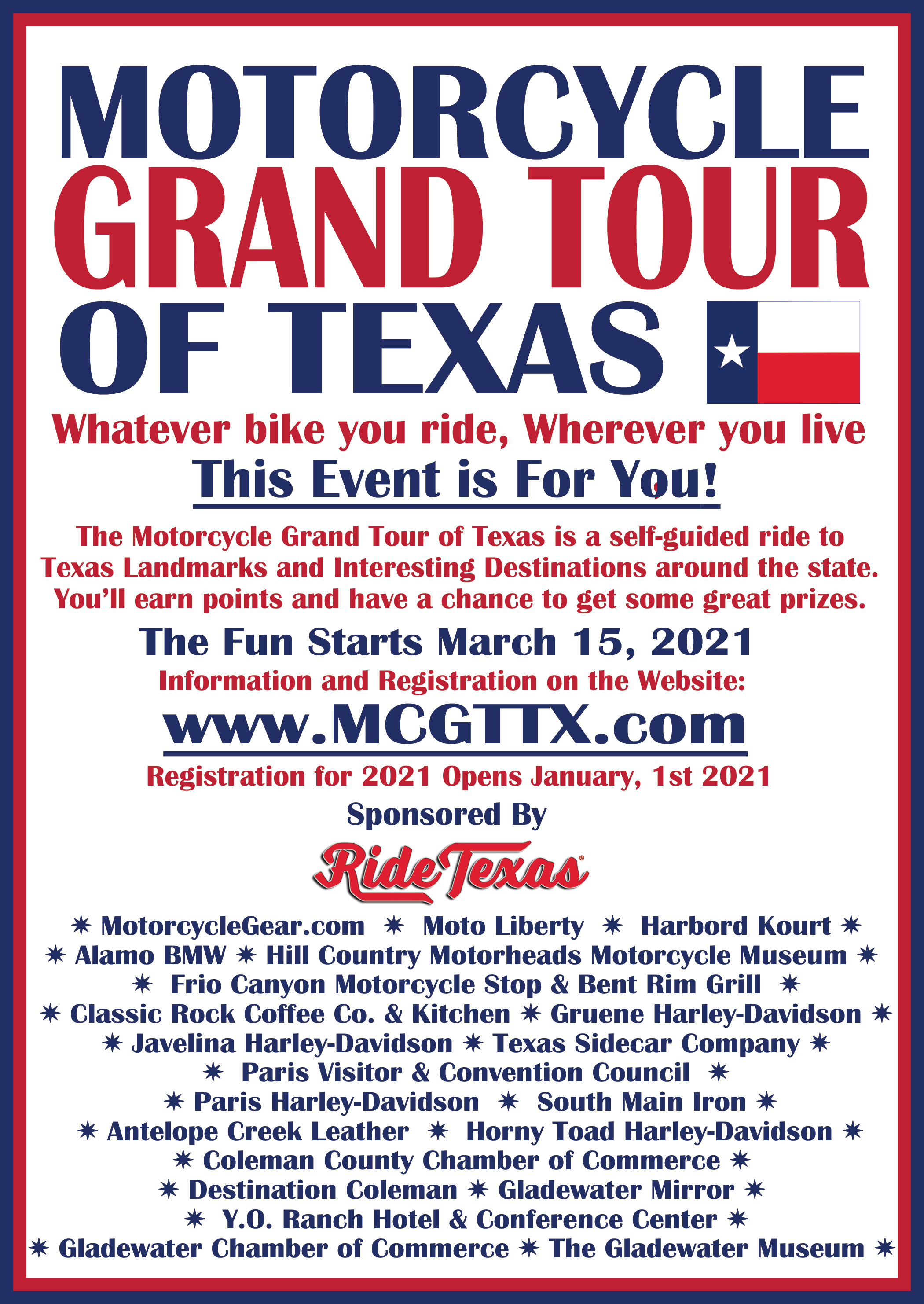 Motorcycle Tour Flyer Image